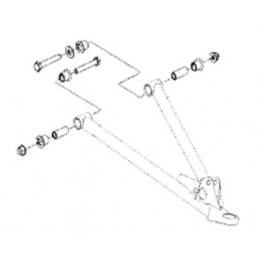 Комплект втулок для нижних рычагов (08-466, 08-467) BRP  SM-08092