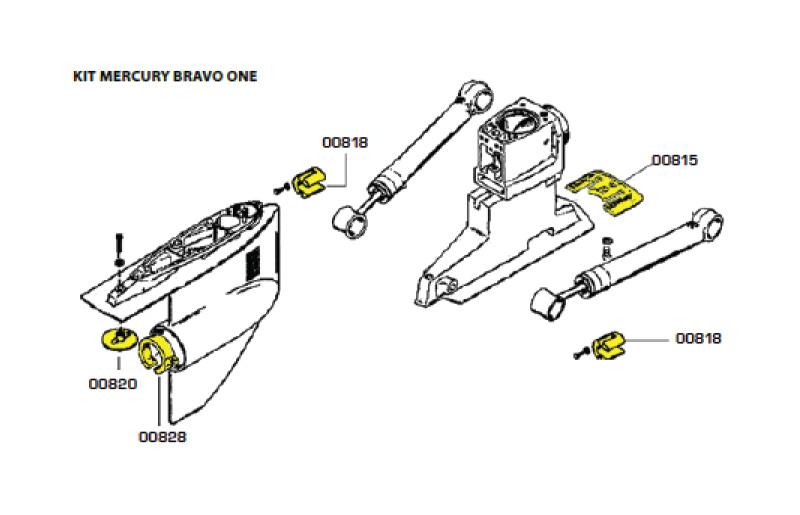 Комплект алюминиевых анодов BRAVO ONE (1988-Н.В.)