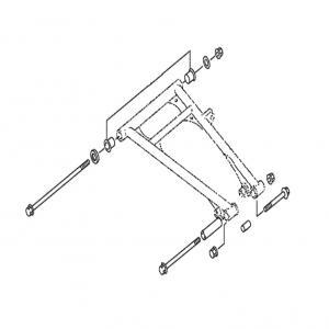 Комплект втулок для нижних рычагов (SM-08668, SM-08669) Yamaha SM-08228