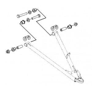 Комплект втулок для нижних рычагов (SM-08256, SM-08257) BRP SM-08262