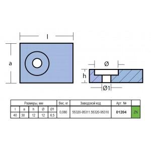 Анод цинковый Suzuki 55320-95311, 55320-95310